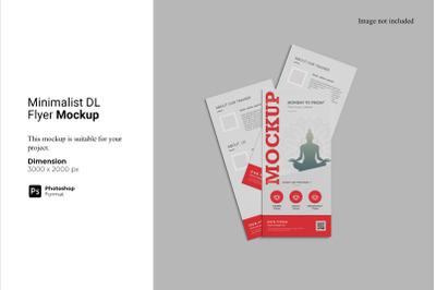 Minimalist DL Flyer Mockup