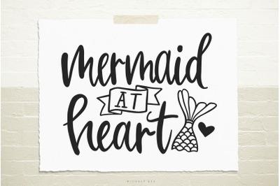 Mermaid at heart svg cut file