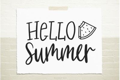 Hello summer svg cut file