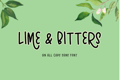 Lime and Bitters Sans