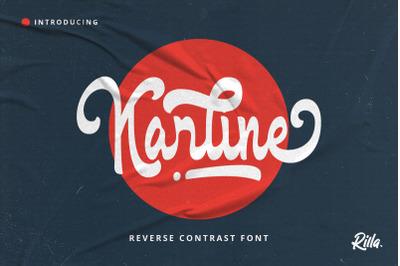 Karline - Reverse Contrast Script