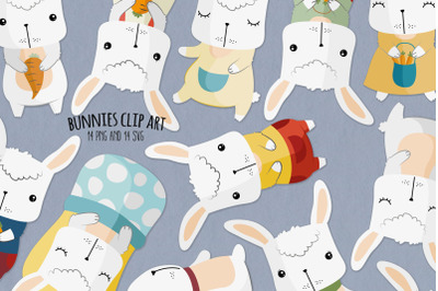 Bunny SVG Clipart   Set of 14