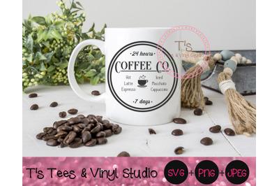 Coffee Company, Coffee Co Svg, Coffee Sign, Latte, Iced Coffee, Cappuc