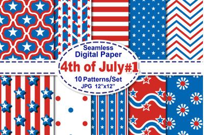 4th of July Seamless Digital Pattern V.1