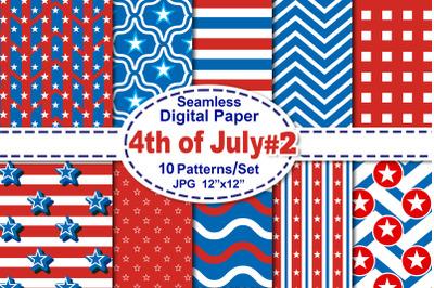 4th of July Seamless Digital Pattern V.2