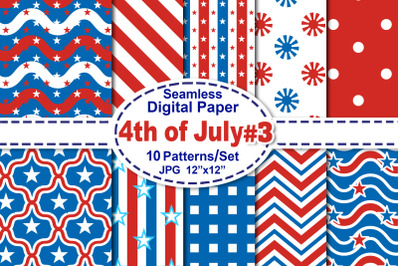 4th of July Seamless Digital Pattern V.3