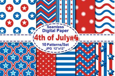 4th of July Seamless Digital Pattern V.4