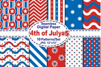 4th of July Seamless Digital Pattern V.5