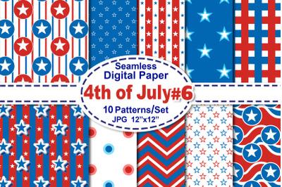 4th of July Seamless Digital Pattern V.6