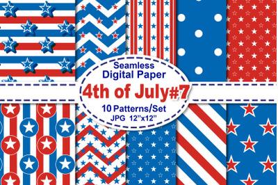 4th of July Seamless Digital Pattern V.7