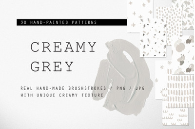 CREAMY GREY - 30 Patterns Collection