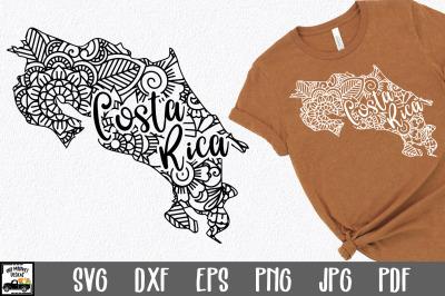 Costa Rica SVG File - Costa Rica Mandala Design