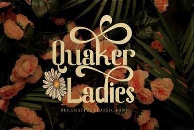 Quaker Ladies - Decorative Classic Font