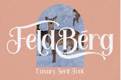Feldberg - Elegant Luxury Serif Font