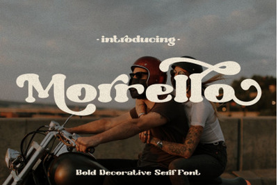 Morrello - Bold Retro Decorative Serif Font