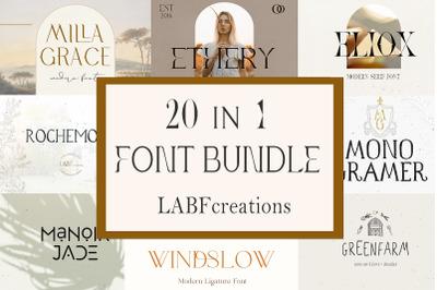 Font Bundle LABFcreations.