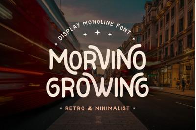 Morvino Growing - Monoline Display Font