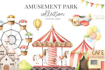 Amusement park - watercolor set