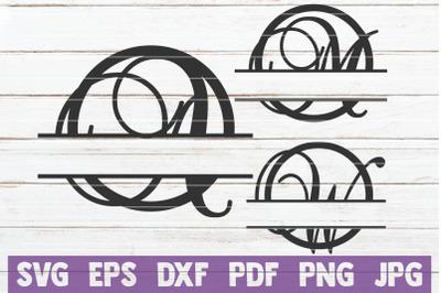 Swirl Circle Monogram Alphabet