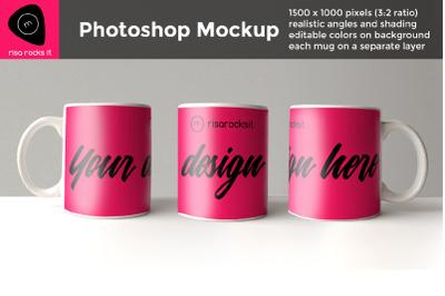 11 oz Mug Sublimation   Photoshop Mock Up