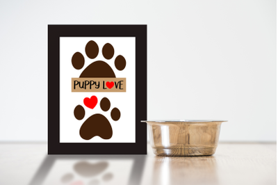 Paw Print Puppy Love Duo | SVG | PNG | DXF | EPS