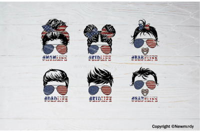 4th of July patriotic Matching Family Life PNG Sublimation