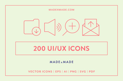 UI/UX Line Icons
