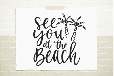See you at the beach svg cut file
