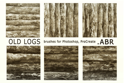 Old logs. Brushes for Photoshop, ProCreate .ABR