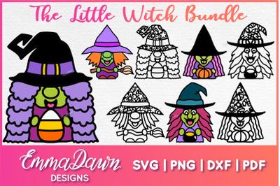 The Little Witch Bundle SVG 8 Halloween Designs