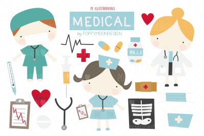 Medical clipart set