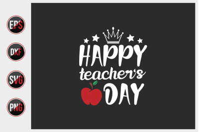 Happy teachers day svg.