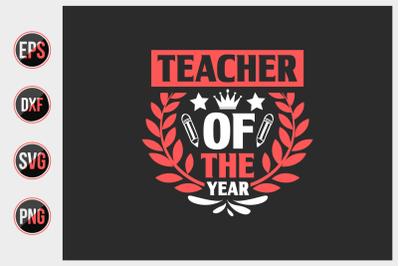 Teacher of the year svg.