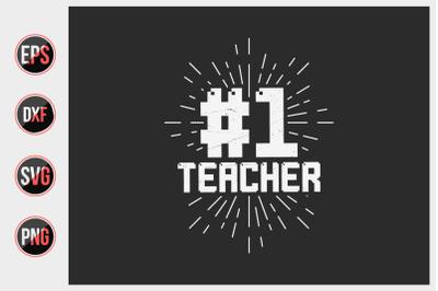 Teacher quotes typographic vector graphic.