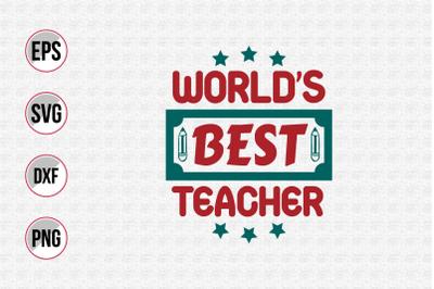 World's best teacher svg.