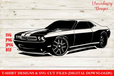 Sports Car SVG T-Shirt Design