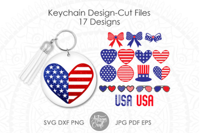 Patriotic keychain, keychain SVG, sublimation PNG