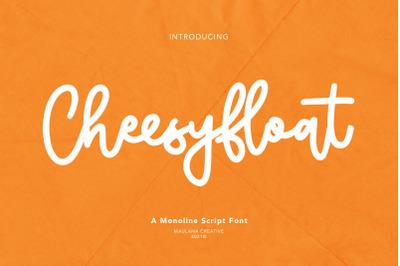 Cheesyfloat Monoline Script Font