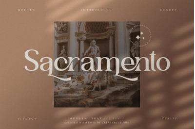 Sacramento Modern Ligature Serif