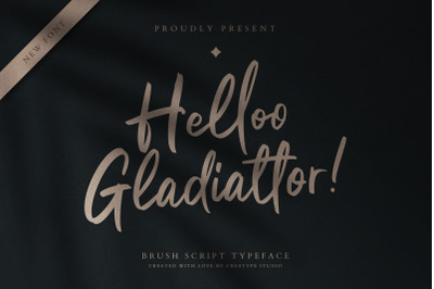 Helloo Gladiattor Brush Script