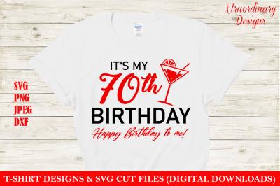 70th T-Shirt Design SVG