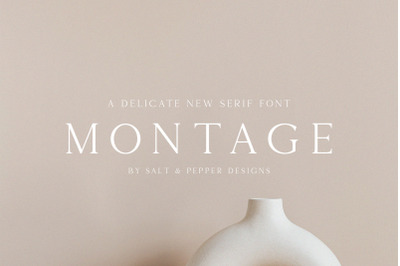 Montage Serif Font (Luxury Fonts, Stunning Fonts, Classy Fonts)