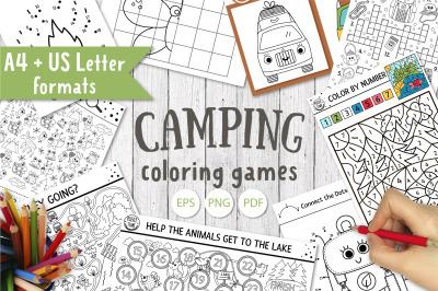 Camping coloring games