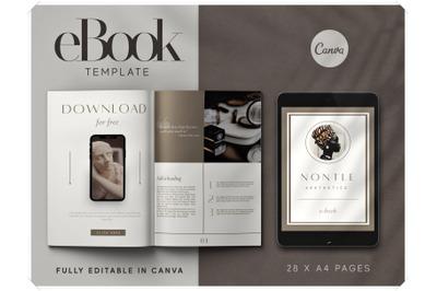 eBook Canva Template - Work Book Template