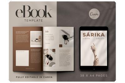 eBook Canva Template - Work Book Template for Canva