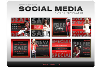Social Media Flyers Canva Template