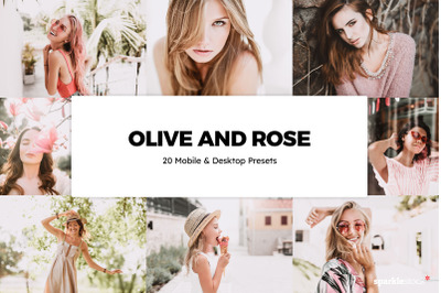 20  Olive and Rose LR Presets