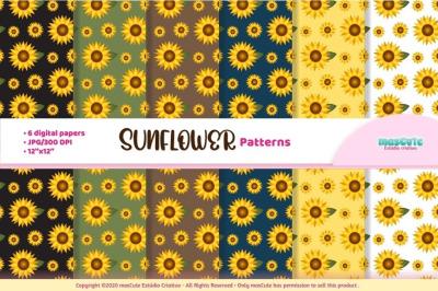 Sunflower digital paper