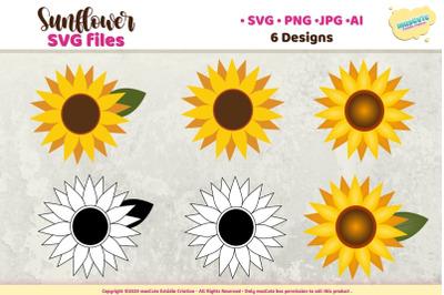 Sunflower SVG Bundle, Sunflower Sublimation Bundle