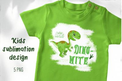 Dinosaur Sublimation design / T-shirt sublimation png / Baby